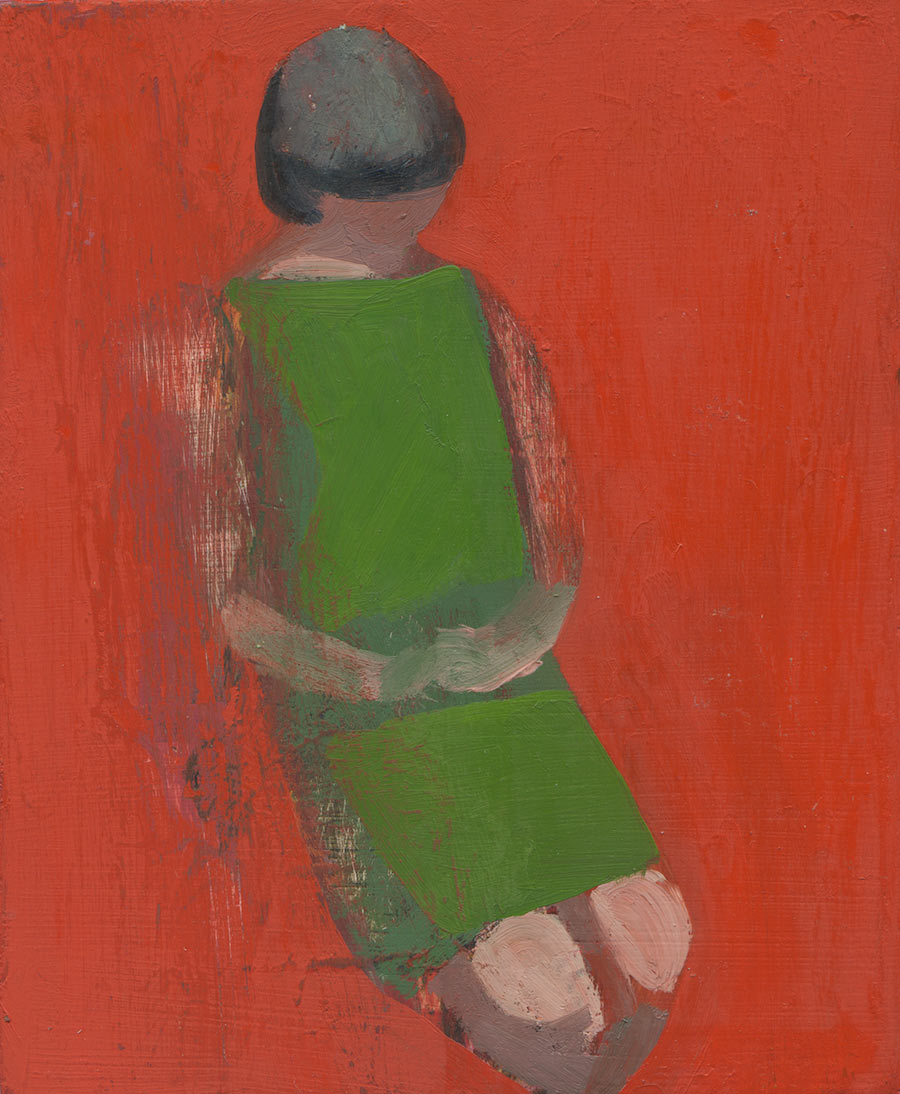Red-Woman-Seated